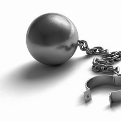 Photo of a ball and chain